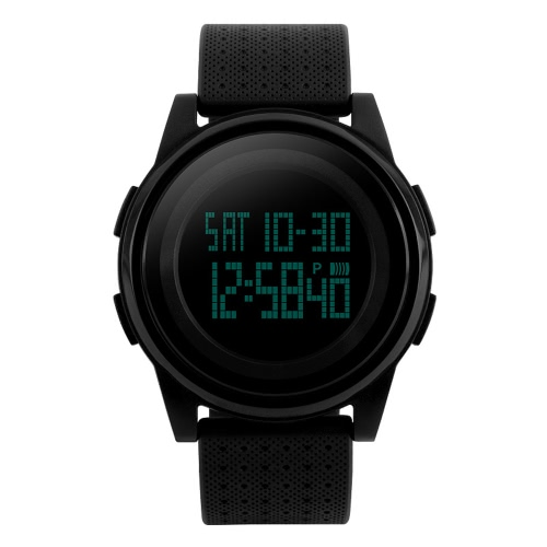 SKMEI 5ATM Water Resistant Fashion Digital Casual Sports Wrist Watch