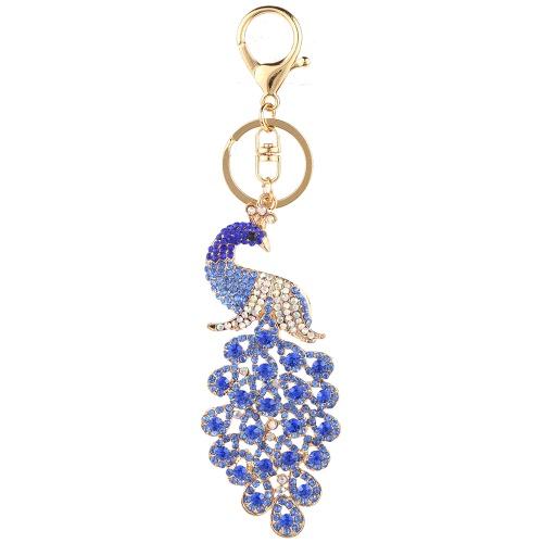 Moda jóias charme oco cadeia de brilho strass Aureate animal Pingente Anel chave para Bag Handbag Mulheres presente