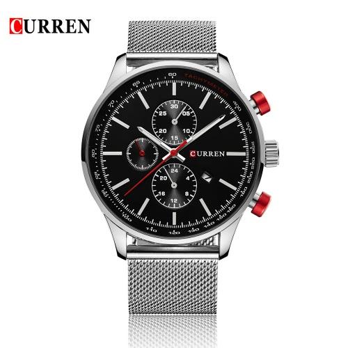 CURREN 2016 Marca Mens de lujo ocasional del cuarzo del reloj de agua diario 30M resistente al hombre del reloj del negocio W / Calendario Reloj para hombre
