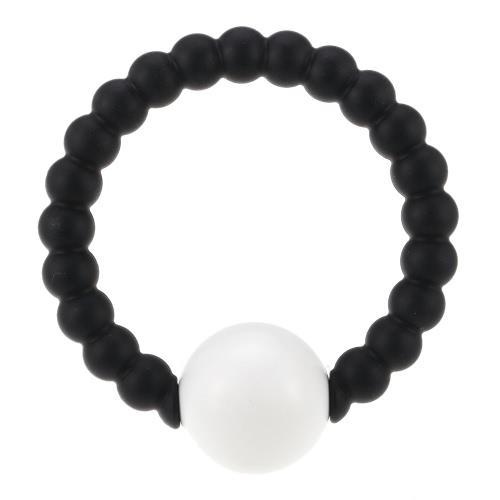 HEISSE nette 100% Nahrungsmittelgrad-Silikon-Armband-Armband mit runden Glocke Chewable Perlen BPA frei Beißringe Pflege Beruhigende Schmuck Spielzeug für Baby-Mädchen-Kleinkind-Geschenk-Mom