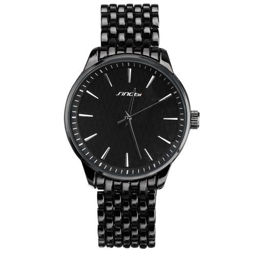 SINOBI 2016 New luxuosas dos homens liga Brand Watch Clássico grade Unisex Homem Mulher Quartz Relógio de pulso 3ATM impermeável Relógios Moda Negócios
