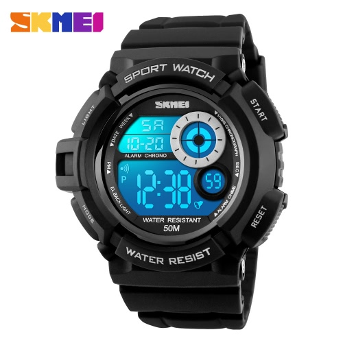 917e0289f5c SKMEI Digital LED 50M Water-Proof Unisex Sports Military Watches Cool Men  Women Electronic Outdoor