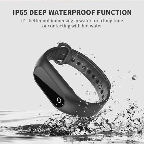 SKMEI BT4.0 a prueba de agua pantalla táctil OLED de tensión inteligentes pulsera de los deportes del reloj del ritmo cardíaco / Sangre / reposo Monitor de la caloría del podómetro del reloj de la aptitud para iOS y Android de alarma anti-perdida Distancia + caja del reloj