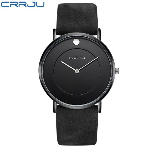 CRRJU schicke Art 3ATM Tägliches Wasser-beständiges Luxuxmann analoge Uhr Einfache Geschäfts-Armbanduhr