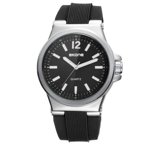 SKONE moda de silicona de cuarzo analógico hombres luminosos relojes 30M resistente al agua hombre reloj de pulsera masculino Masculino Relogio