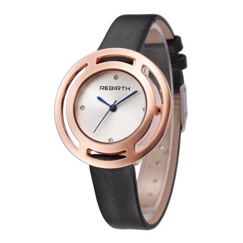 REBIRTH Brand Luxury Diamond Quartz Women Watches
