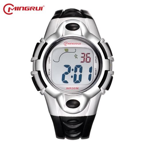 Mingrui 3ATM Wodoodporny wielofunkcyjny zegarek dziecięcy Boys & Girls Sport Zegarki ręczne Zegarki cyfrowe studenckie Podświetlenie alarmu