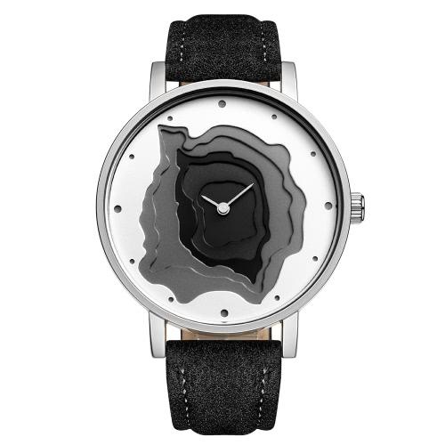 STARKING 2017 Moda couro de luxo couro genuino relógio 3D Dial Quartz Water-Proof Senhoras Relógio de pulso Casual relógio Simplicidade Moderna
