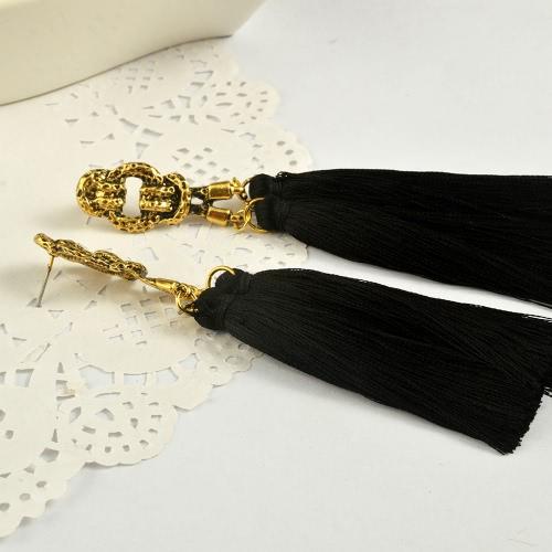 Fashion Popular Retro Bohemian Style Long Tassel Drop Earrings for Women Travel Vintage Jewelry