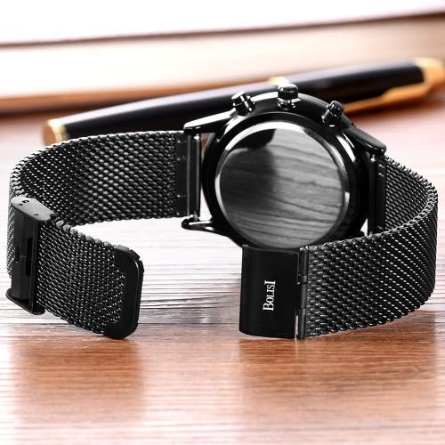 Bolisi Fashion Casual Quartz Watch 3ATM Water-resistant Watch Men Wristwatch Male Calendar Timer