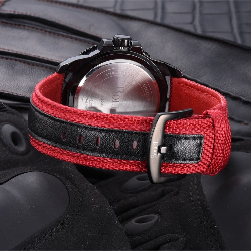 Bolisi Fashion Casual Quartz Watch 3ATM Water-resistant Men Watches Male Wristwatch Calendar