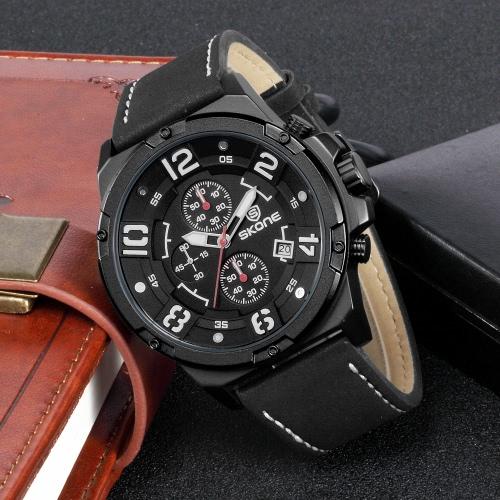 SKONE Fashion Casual Watch 3ATM Relógio Quartz Resistente à Água Homens Luminosos Relógios de pulso Masculino
