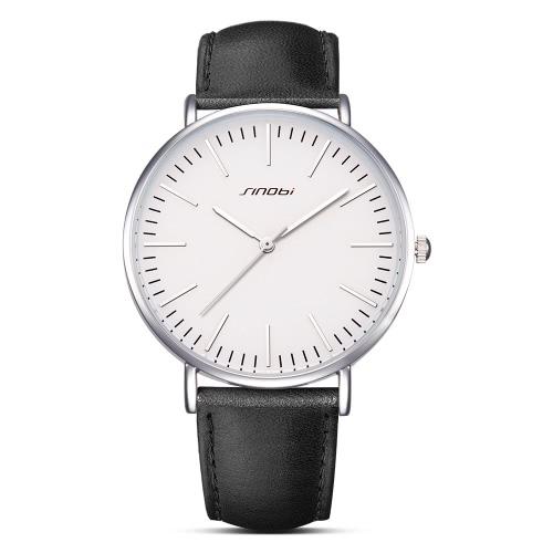 SINOBI moda casual reloj hombres cuarzo relojes 3ATM resistente al agua reloj de pulsera masculino