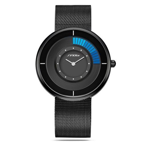 SINOBI moda casual reloj 3ATM resistente al agua de cuarzo relojes hombres Wriswatches masculino