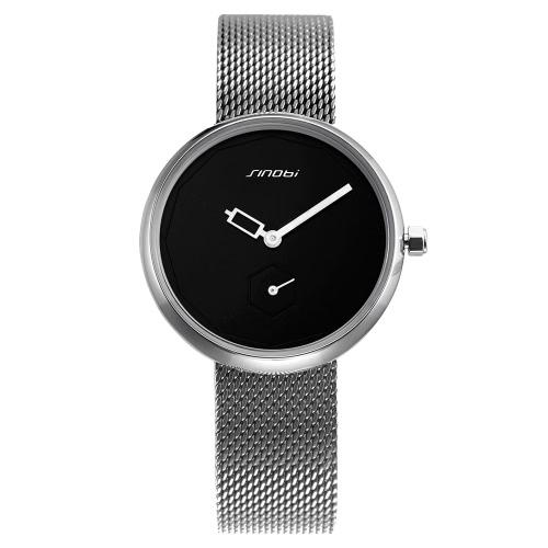 SINOBI Art- und Weisebeiläufige Uhr 3ATM Wasser-beständige Quarz-Uhr-Frauen-Armbanduhr-Frau