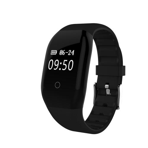 """0.66 """"OLED Wasserdicht BT4.0 Smart Armband Touchscreen Smart Armband Fitness Tracker Herzfrequenz Schrittzähler Schlaf-Monitor für iOS 7.1 und Android 4.4 oder höher"""