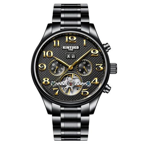 KINYUED Business Watch 3ATM wodoodporny automatyczny mechanizm zegarek męski Zegarki ręczne Mężczyzna