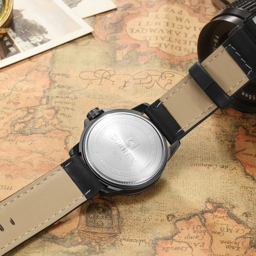 CURREN 2017 Cool PU Leather Quartz Men Watch Water-Proof Calendar Man Casual Wristwatch