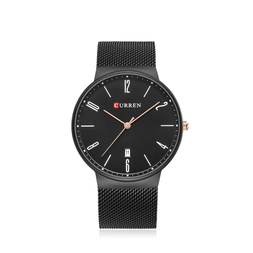 CURREN Fashion Mesh Stainless Steel Quartz Watch