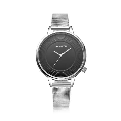 REBIRTH reloj de cuarzo de moda casual de lujo reloj 3ATM resistente al agua mujeres relojes Mujer