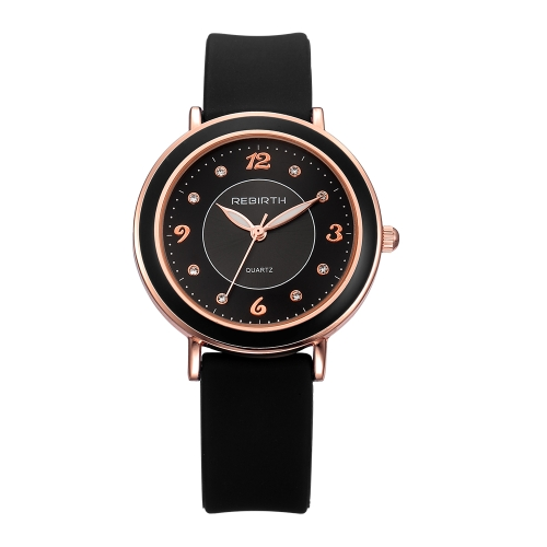 REBIRTH Fashion Casual Quartz Watch Life Water-resistant Watch Women Relógio de pulso Feminino