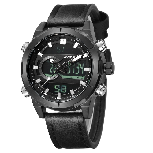 RISTOS Спортивные кварцевые цифровые часы 3ATM Водонепроницаемые мужские наручные часы для наручных часов мужских наручных часов фото