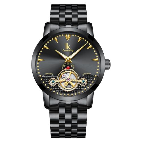 IKColouring Business Automatic Watch mecânico 3ATM Water-resistant Men Watch Relógio de pulso luminoso Masculino
