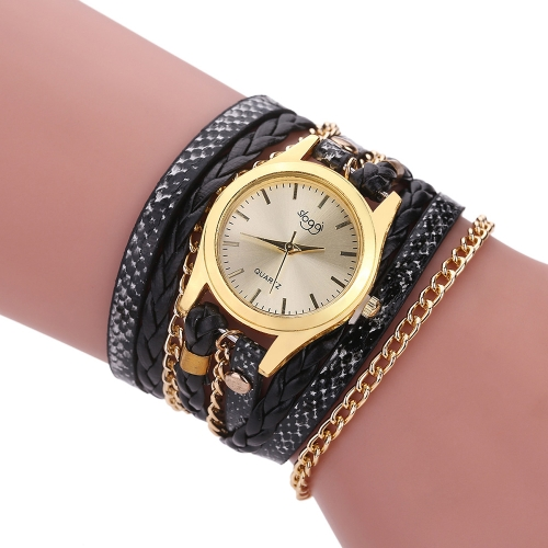 Fashion Vintage Casual Winding Serpentine Grain Braided Watch Women