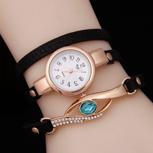 Fashion Vintage Rhinestone Watch Embedded Sapphire Peacock Eye Stylowa damska likwidacja Wrist Watch