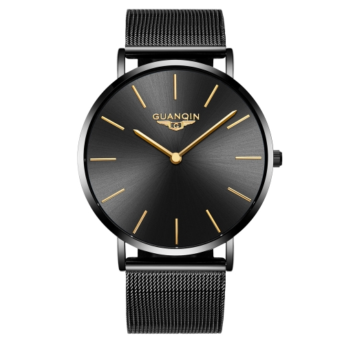 Relojes GUANQIN Fashion Ultra-thin Simple Men 3ATM Life Cuarzo resistente a la lluvia Casual Man Wristwach