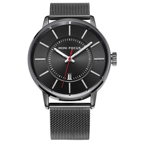 MINI FOCUS Fashion Stainless Steel Men Watches Quartz 3ATM Water-resistant Luminous Casual Man Wristwatch Calendar