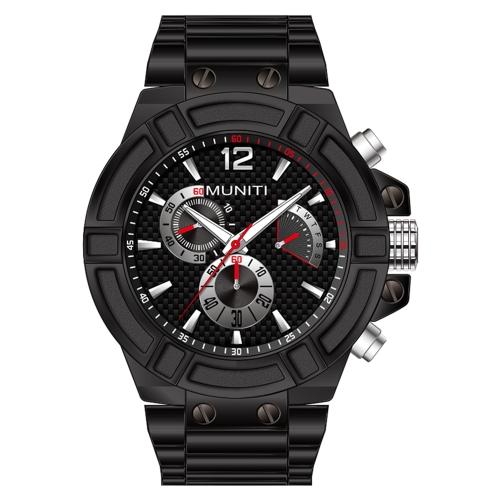 MUNITI Fashion Sport Men Watch Life Wodoodporny zegarek kwarcowy Luminous Man Relogio Musculino
