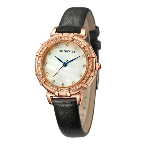 REBIRTH Fashion Luxury Women Watches 1ATM Water-resistant Quartz Casual Simple Woman Wristwatch Relogio Feminino