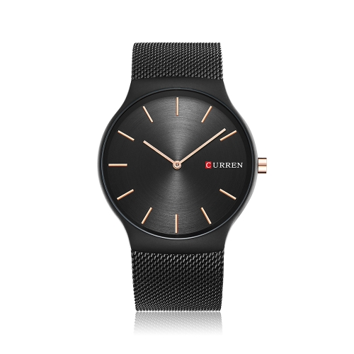 CURREN Moda Relógios de luxo de aço inoxidável de aço Quartz 3ATM resistente à água relógio de homem casual