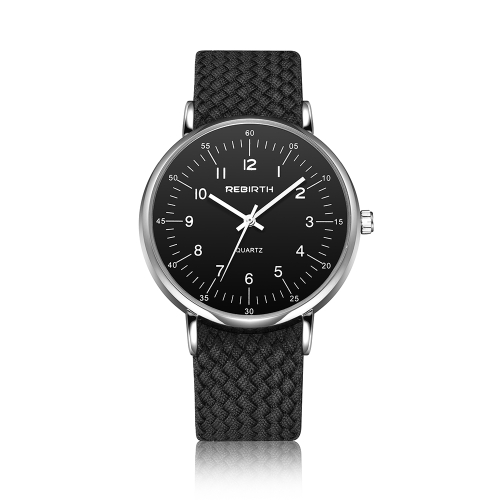REBIRTH Fashion Nylon Men Watchers 3ATM resistente al agua de cuarzo casual hombre reloj de pulsera simple