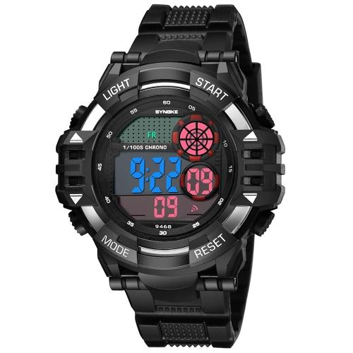 SYNOKE Relógios de pulso de moda 3ATM relógio eletrônico resistente à água relógio de pulso homem luminoso Relogio Musculino relogio de cronógrafo masculino
