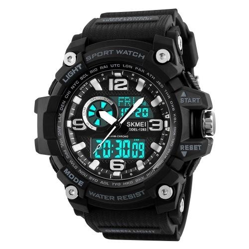 SKMEI Sport Digital Watch 5ATM Relógios unisex resistentes à água Retroiluminação Relógio de pulso Cronógrafo masculino feminino