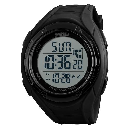 SKMEI Sport Digital Watch 5ATM Relógios unisex resistentes à água Retroiluminação Relógio de pulso Tempo / Semana / Alarme / Data / Cronômetro