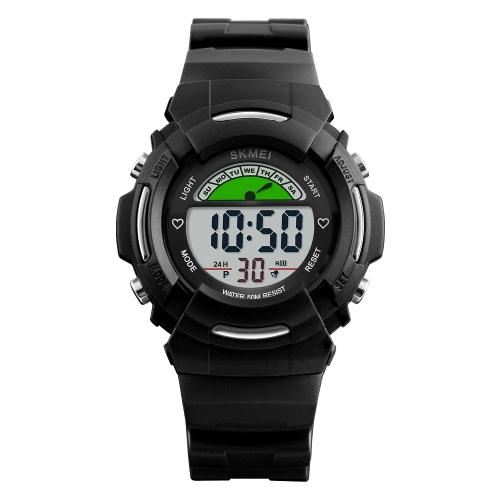 SKMEI Crianças Sport Digital Watch 5ATM Water-resistant Kids Relógios Relógio de relogio Relógio de pulso com alarme