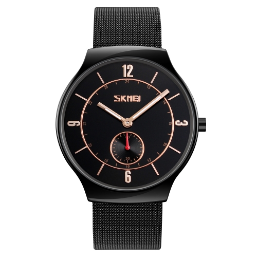 SKMEI Fashion Casual Quartz Watch 3ATM Water-resistant Men Watch Relógio de pulso de liga de zinco Masculino