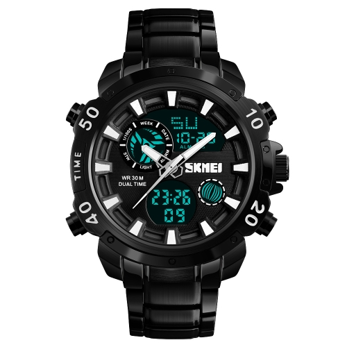 SKMEI Fashion Sport Men Watches Orologio al quarzo elettronico maschio 3ATM Orologio calendario cronometro resistente all'acqua
