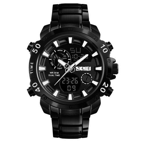 SKMEI Fashion Sport Men Watches Quartz Electronic Male Watch 3ATM Water-resistant Calendar Stopwatch Alarm Clock