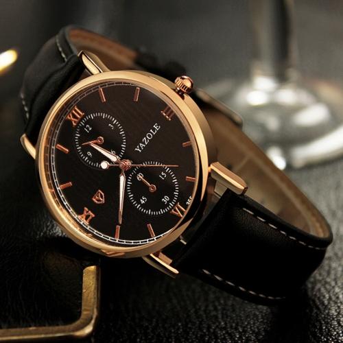 YAZOLE Classic Business Men Relógios Quartz Male Watch 3ATM Water-resistant Luminous Man Watch Time Display