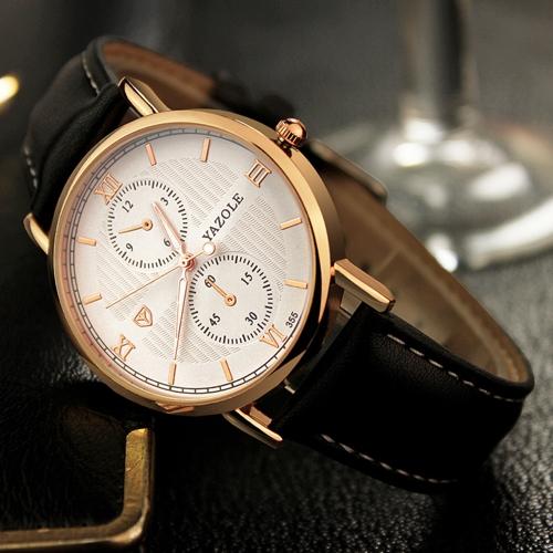 Relojes de hombre de negocios clásicos de YAZOLE Relojes de hombre de cuarzo Relojes de hombre luminosos resistente al agua 3ATM