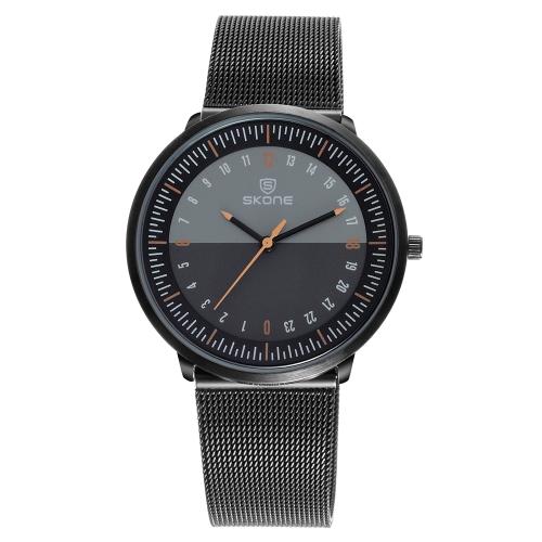 Zegarek męski Kwarcowy SKONE Fashion 3ATM Wodoodporny zegarek męski na rękę męski Relogio Musculino