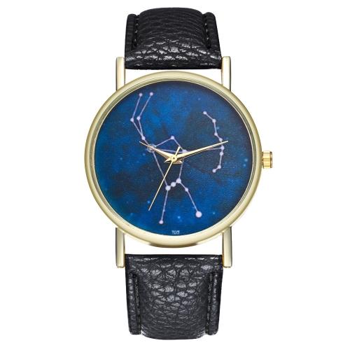 Orion Constellation Leder Damen Herrenuhr