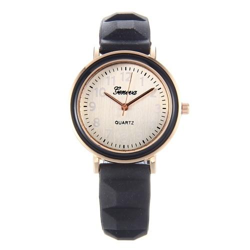 Montre-bracelet de quartz de montre de femmes de quartz Montre-bracelet femelle occasionnelle