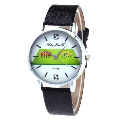 F-389 Mode Uhren Quarz Luxus Leder Armbanduhr britischen Stil mit Fußball Spieler Muster für FIFA World Cup