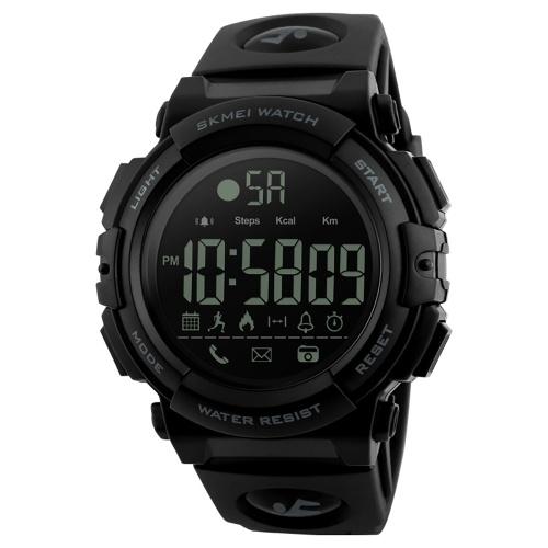 SKMEI 1303 orologio intelligente orologio digitale analogico con pedometro caloria fitness Tracker Orologio sportivo moda casual orologio da polso 5ATM impermeabile LCD BT multifunzionale orologi per Android e IOS