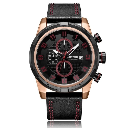 MEGIR 2082G Men Quartz Sport Watch